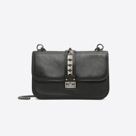 3b957004470 Valentino Garavani Bags | Medium Noir Lock Shoulder Bag | Poshmark